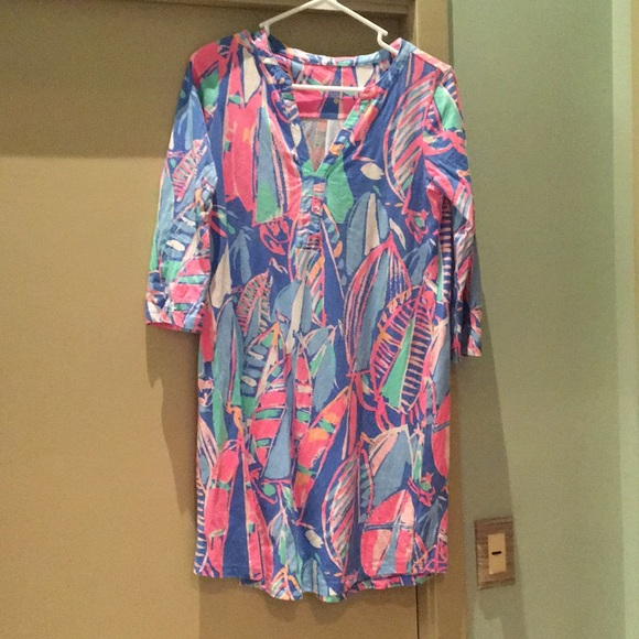 821bd929410c57 Lilly Pulitzer Dresses | Bay Blue Out To Sea Ali Dress | Poshmark